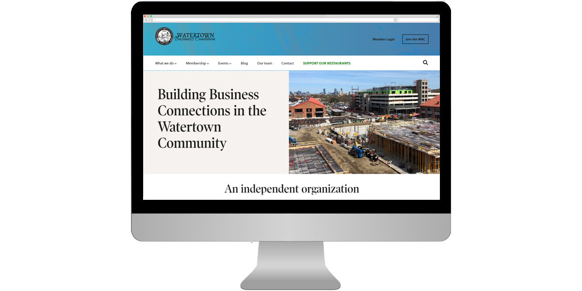 Homepage of the Watertown Business Coalition image